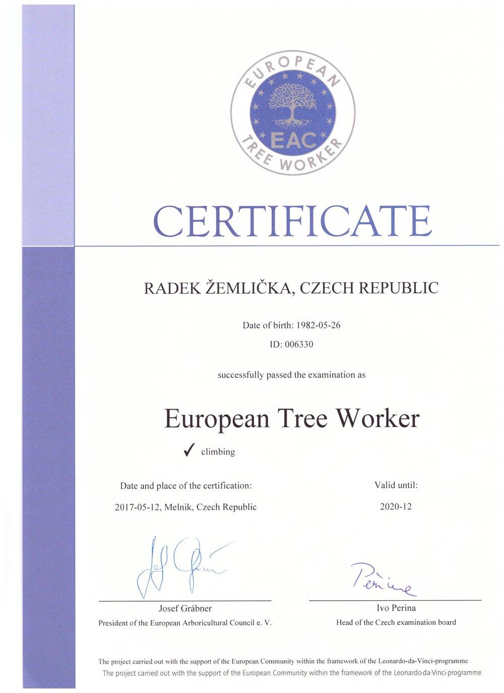 ETW certifikat